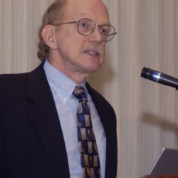 Dr. Robert Waterston, director of the Genome Sequencing Center at Washington University School of Medicine in St. Louis, speaks at a press conference announcing the analysis of the mouse genome.